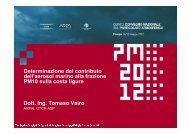 Dott. Ing. Tomaso Vairo Determinazione del contributo ... - PM2012