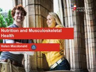 Nutrition and Musculoskeletal Health - Workcast