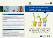 Folder Traisental Wine Tasting 2013 - Traisentaler Wein