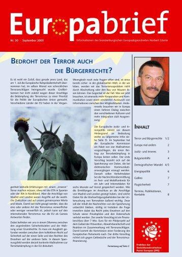 Europabrief September 2005 - Glante, Norbert