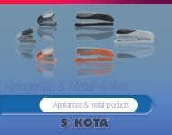 Kleingeräte & Metall-Artikel - SaKOTA CZ