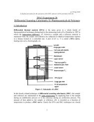 2PA3 Experiment 2b Differential Scanning Calorimetry II ...