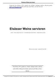 Elsässer Weine servieren - Vins d'Alsace