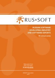RUSSIAN SOFTWARE DEVELOPING INDUSTRY AND SOFTWARE ...