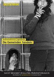 laut & leise 2/03 - Suchtprävention im Kanton Zürich