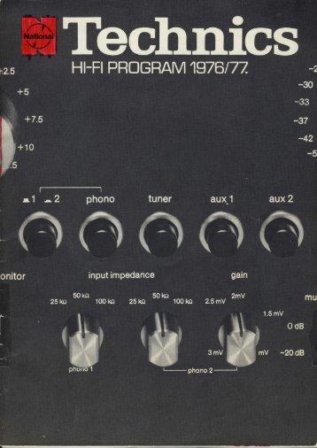 Technics Hi-Fi Program 1976/77 (Danish)