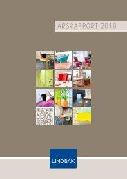 Årsrapport 2010 - Lindbak