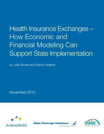 Health Insurance Exchanges – How Economic and Financial ...
