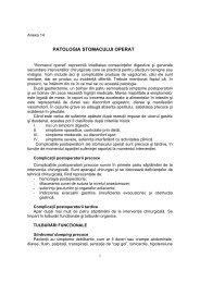 Protocol de diagnostic si tratament stomac operat - Spitalul Clinic ...