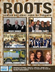 Spring 2011 - JNF TORONTO - Jewish National Fund of Canada