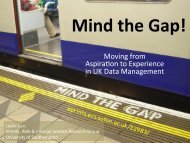 Moving from Aspiraoon to Experience in UK Data Management
