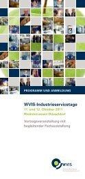 WVIS-Industrieservicetage - WVIS Wirtschaftsverband für ...