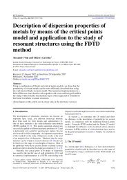 Description of dispersion properties of metals by means of the ...