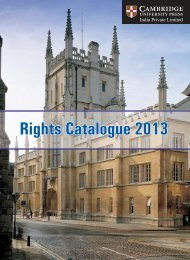 Rights Catalogue 2013 - Cambridge University Press India