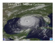 Lecture 11 Tropical Cyclones - Atmospheric and Oceanic Sciences