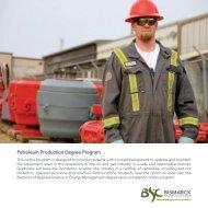 Petroleum Production Degree Program - Bismarck State College