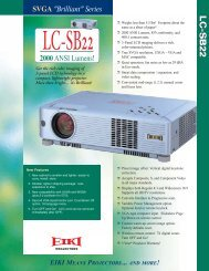 LC-SB22 Spec Sheet