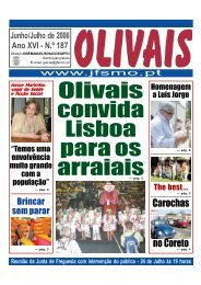 Olivais convida Lisboa para os - Junta de Freguesia de Santa Maria ...