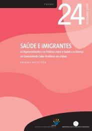 SAÚDE E IMIGRANTES - Observatório da Imigração - Acidi