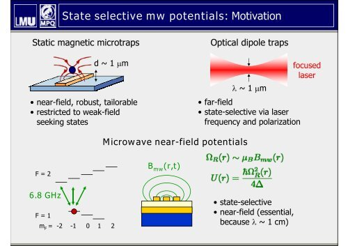 Coherent manipulation of BECs with state-dependent microwave ...