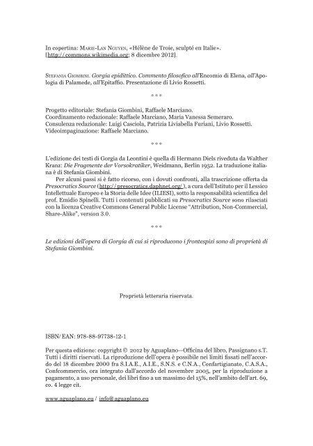 STEFANIA GIOMBINI. Gorgia epidittico - Aguaplano