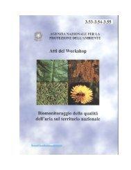 """Atti del Workshop """"Biomonitoraggio della qualità dell'aria - Ispra"""