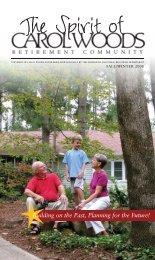 Spirit (Fall 2008) - Carol Woods Retirement Community