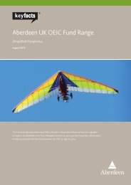 Aberdeen UK OEIC Fund Range - Alliance Trust