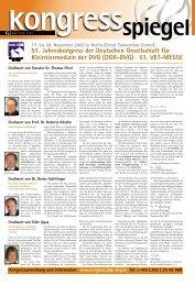 51. Jahreskongress der Deutschen Gesellschaft für Kleintiermedizin ...