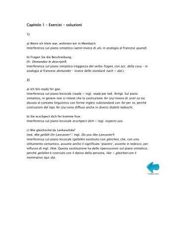 Soluzioni agli esercizi >> pdf