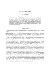 MOORE'S THEOREM 1. Introduction In this expository paper, we ...