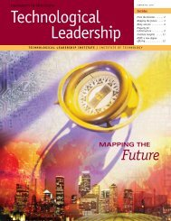 Summer/Fall 2009 - Technological Leadership Institute - University ...