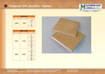 Tableros Duolite, MDF y Tablex - Maderas Marbella, SL.