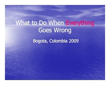 What to Do When Everything Goes Wrong Tom Crossmon - Videoray