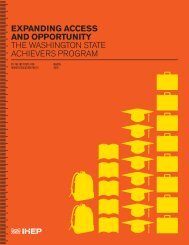 EXPANDING ACCESS AND OPPORTUNITY the washington state ...