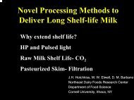 Microfiltration in the Processing of Extended Shelf Life Skim Milk ...
