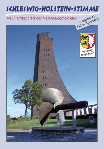 Ausgabe 41 März–April 2011 - Schleswig-Holstein-Stimme
