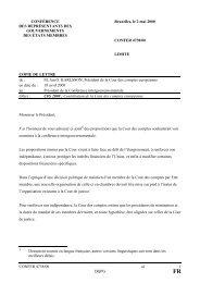 CONFER 4738/00 al 1 DQPG CONFÉRENCE DES ...