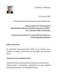 """Dr. Helmut K. Wiedemann 12. November 2008 """"Diesel-Erdgas-Bus ..."""