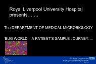 Medical Microbiology laboratory - Royal Liverpool and Broadgreen ...