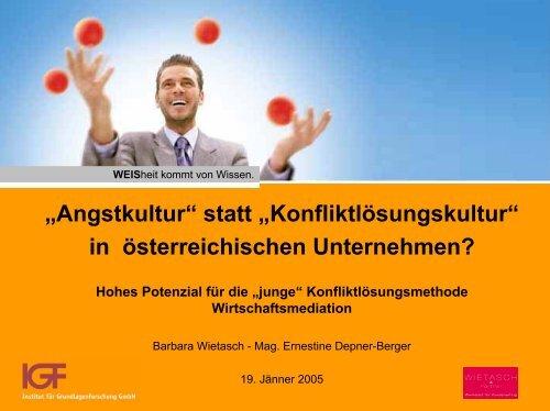 in österreichischen Unternehmen? - Peteradler.at