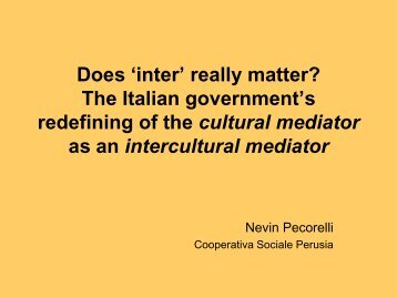 Does 'inter' really matter? The Italian government's ... - e-SPICES