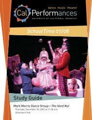 Schooltime 07/08 Study Guide - Cal Performances