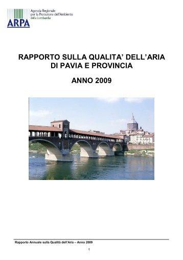 dell'aria di pavia e provincia anno 2009 - ARPA Lombardia