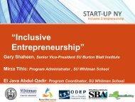 """""""Inclusive Entrepreneurship"""" - Burton Blatt Institute at Syracuse ..."""