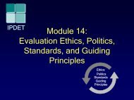 Evaluation Ethics, Politics, Standards, and ... - BetterEvaluation