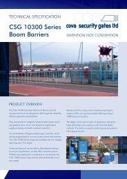 Download 10300 Boom Barrier datasheet - Cova Security Gates