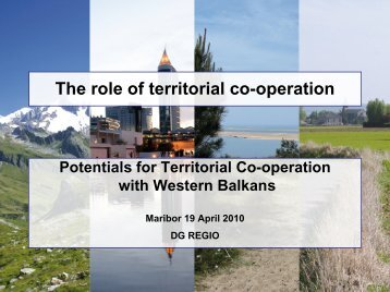 The role of territorial co-operation - Cilj 3