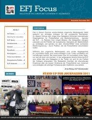 EFJ NEWS - Europe