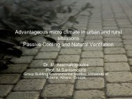 Advantageous micro climate in urban and rural situations Natural ...